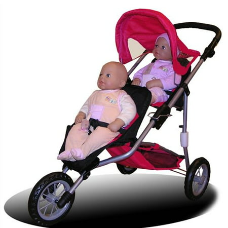 Twin Jogging Stroller For Dolls Fits 18 Inch Dolls