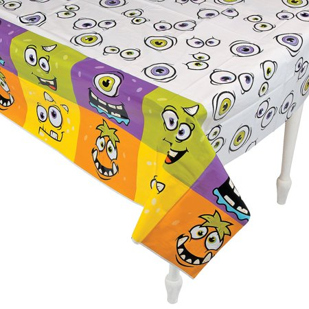 Fun Express - Monster Party Tablecover for Halloween - Party Supplies - Table Covers - Print Table Covers - Halloween - 1 Piece](Halloween Express Chattanooga)