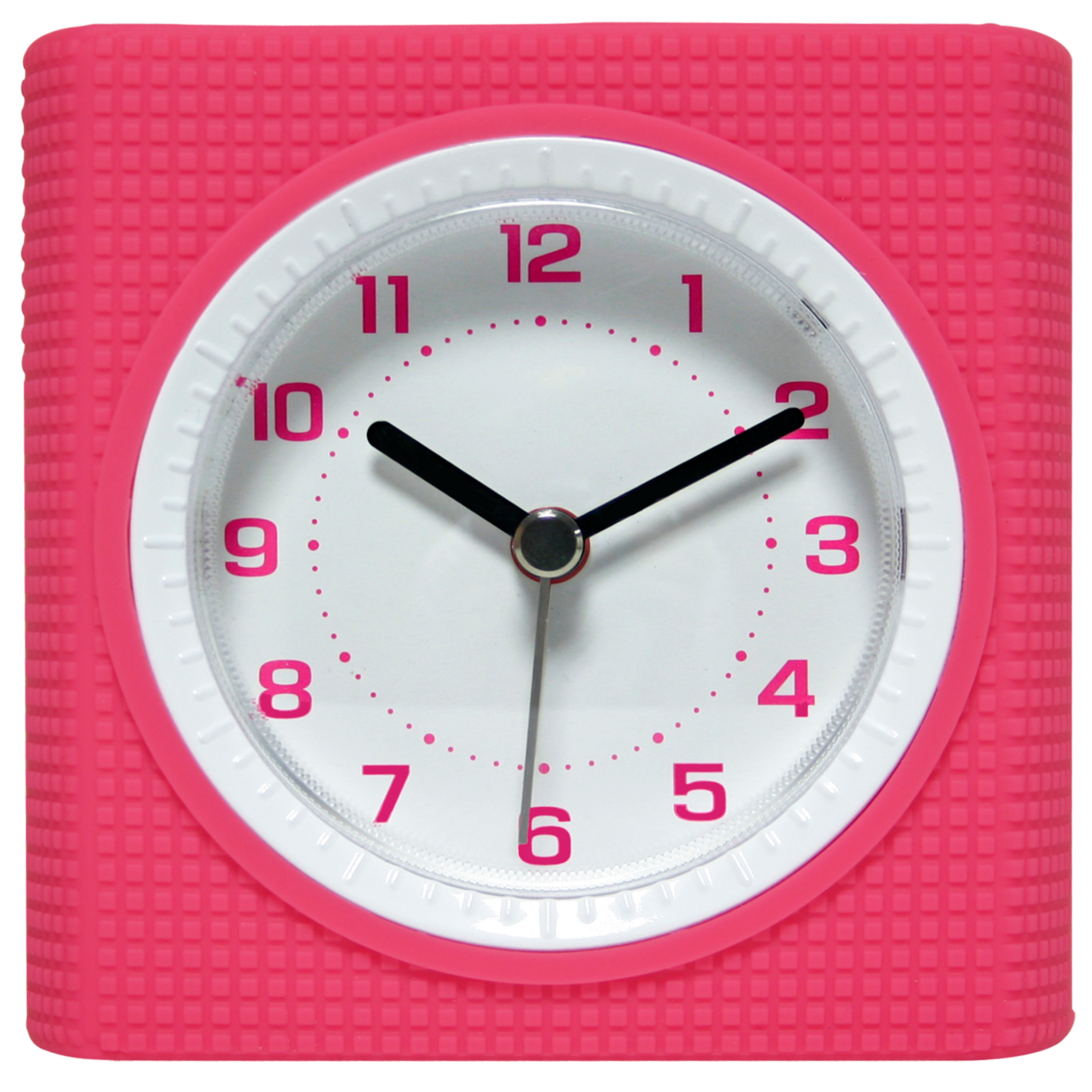 Equity Silent Sweep Analog Alarm Clock, Pink