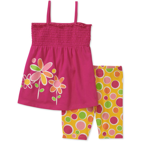 Healthtex Baby Toddler Girl 2-Piece Tunic and Shorts Set