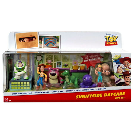 Toy Story 20th Anniversary Sunnyside Daycare Gift Set Mini Figure 7-Pack [Buzz Lightyear, Woody, Lotso, Rex, Stretch Bar for $<!---->