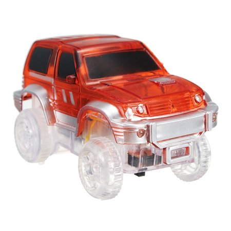 WINBIGSTORE Electronics Car For Magic Track Rail Toys With LED Flashing Lights Toys Kids Children Christmas Tech Gift