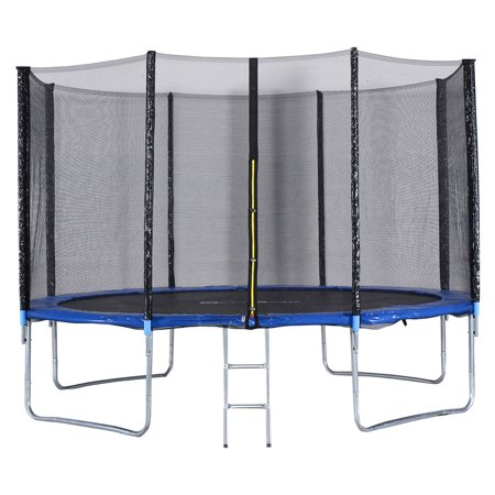 Gymax 12 FT Trampoline Combo Bounce Jump Safety Enclosure Net - image 4 of 10