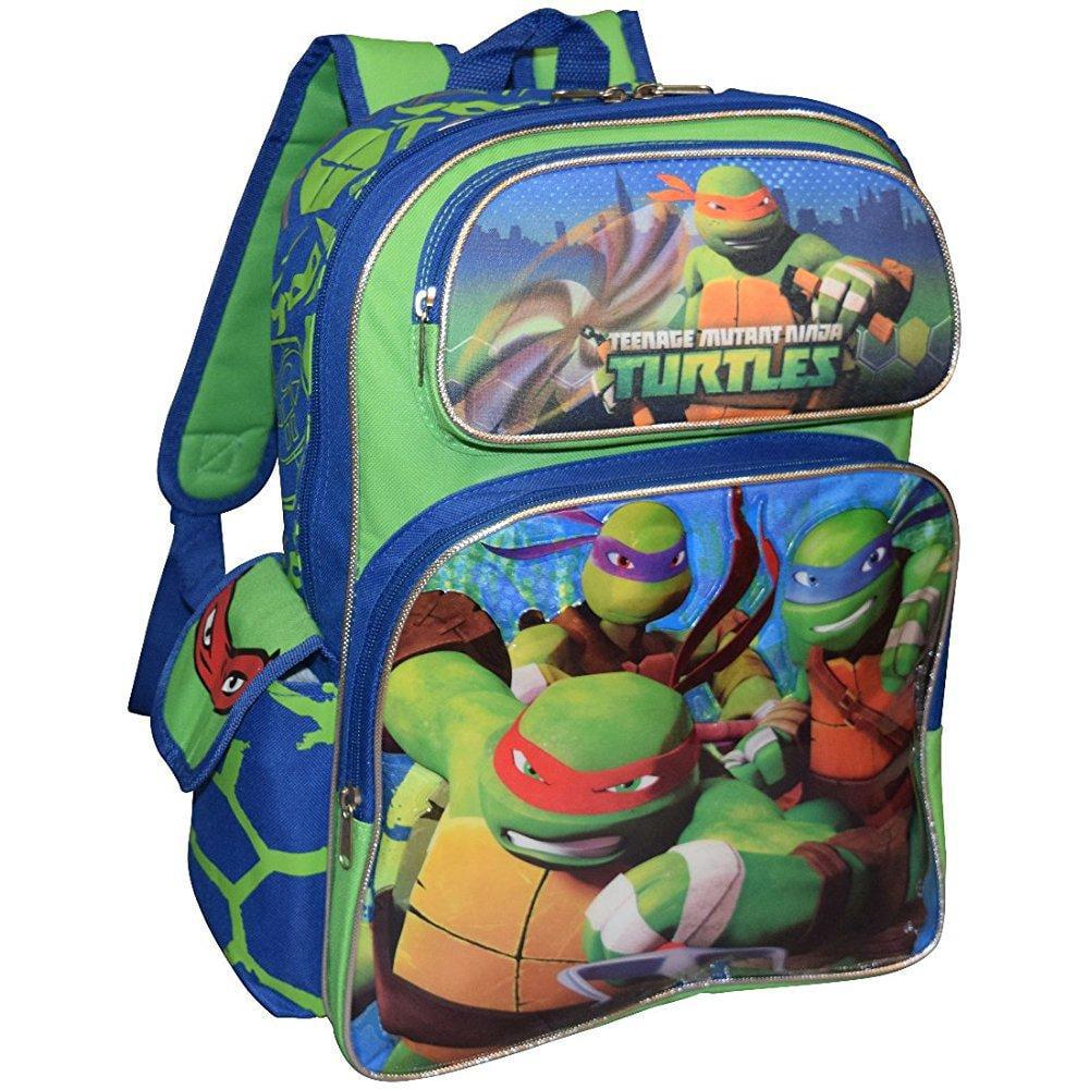 tmnt ninja turtles deluxe 3d embossed 16 school bag backpack