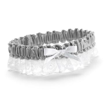 Hortense B. Hewitt 73051 Platinum Ribbon & Lace Garter
