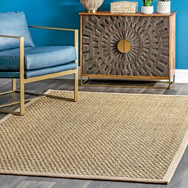 nuLOOM Hesse Checker Weave Seagrass Indoor/Outdoor Area Rug - Walmart.com - Walmart.com