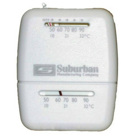 - Suburban 161154 Wall Thermostat - Heat Only - White