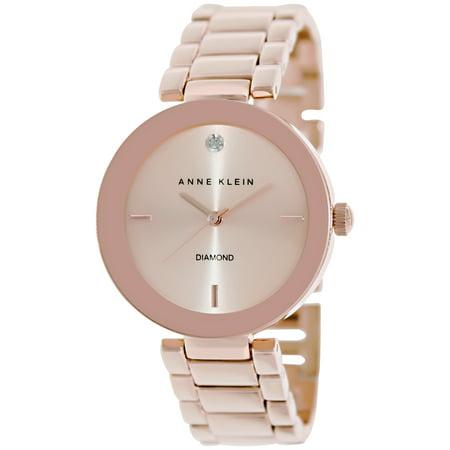 Anne Klein Tie - Anne Klein Women's AK-1362RGRG Rose-Gold Stainless-Steel Analog Quartz Fashion Watch