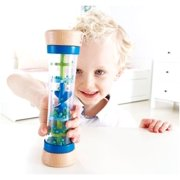 Hape - Early Melodies - Wooden Beaded Raindrops Rainmaker Musical Instrument- Blue