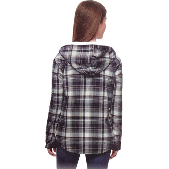 87e501e9b3cb Boston Trader - Boston Trader Ladies  Sherpa Lined Hooded Flannel ...