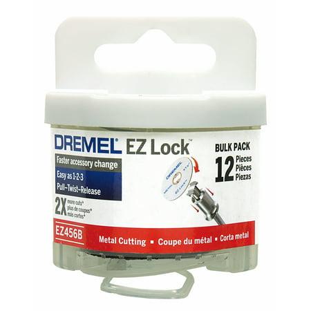 Dremel EZ456B EZ Lock 1-1/2 inch Metal Cut-Off Rotary Wheels for Metal, 12-Pack