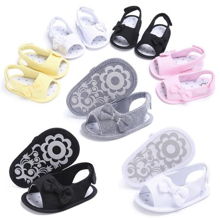 ec76b11245589 Casual Newborn Baby Girl Shoes Bow Sandal Toddler Infant Sandles Soft Crib  Shoes - Walmart.com