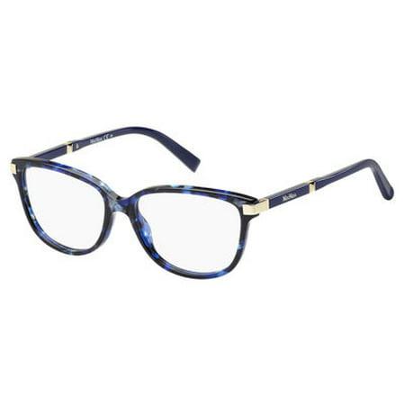d24b16f5ef Max Mara 1253 Eyeglasses 0H8D 52 Blue Havana Gold - Walmart.com
