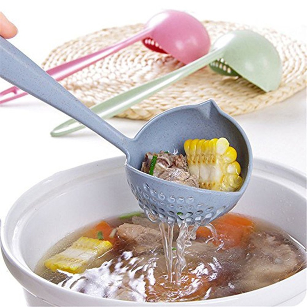 Moderna 2 in 1 Filter Colander Hot Pot Porridge Soup Long Handle Big Spoon Kitchen Tool