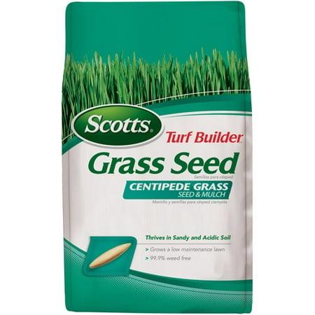 Scotts Turf Builder Grass Seed Centipede Grass Seed & Mulch, 5 lbs