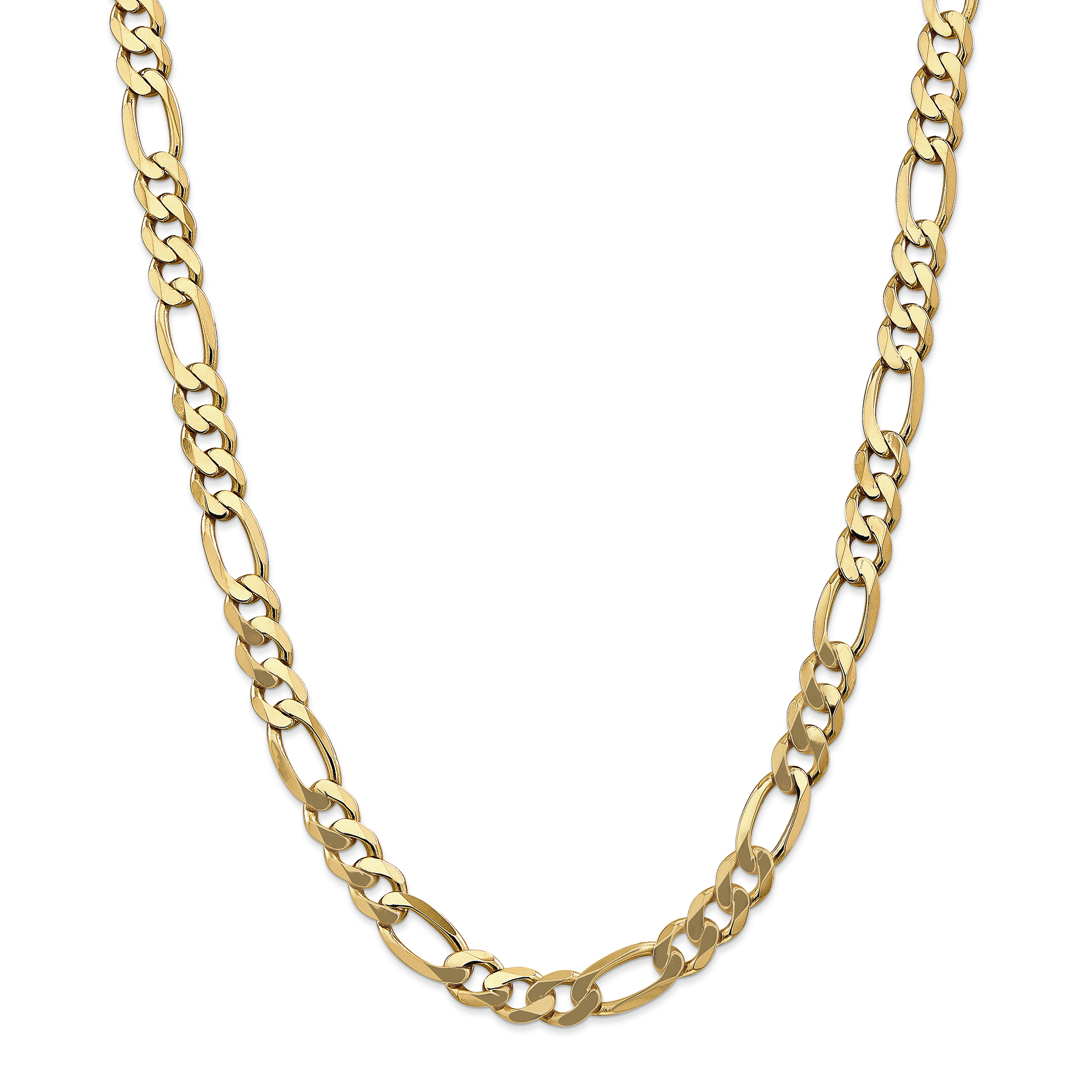 ICE CARATS 14kt Yellow Gold 8.75mm Flat Link Figaro Chain Necklace 20 Inch Pendant Charm Fine Jewelry Ideal Gifts For... by IceCarats Designer Jewelry Gift USA