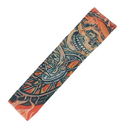 Child Devil Printed Temporary Stretchy Fake Tattoo Sleeve Arm Stocking Costume (Costume Tattoos)