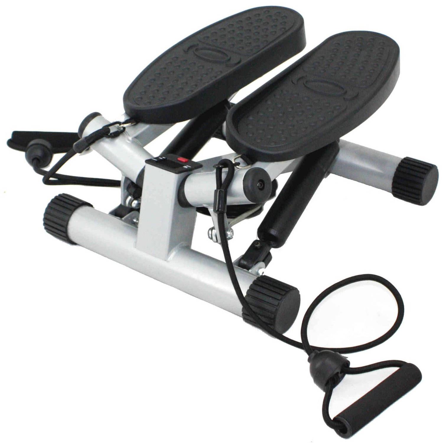 Sunny Health & Fitness Twisting Stair Stepper Step Machine w/ Resistance Bands and LCD Monitor - NO. 068