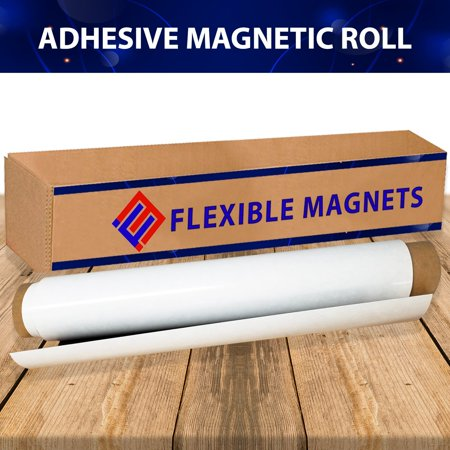 Flexible Magnet Sheet With Adhesive, Ideal for DIY Projects at Home - Office - Auto - Shop - Crafts and More!(2 ft x 2 ft, 20 mil) (Sheet Magnets)