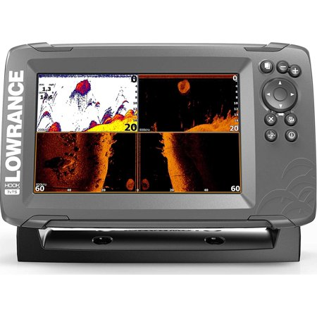 Lowrance HOOK2 Fish Finder/Depth Finder with Auto-Tuning CHIRP (Lowrance Elite 4 Chirp Basemap Fish Finder)
