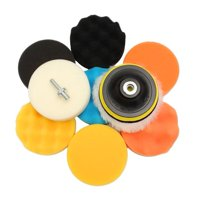 LYUMO 11Pcs  Sponge Buffing Polishing Waxing Pad Kit for Car Polisher Buffer w/ Drill Adapter, Car Polishing Pads, Polishing Buffing Pad Kit