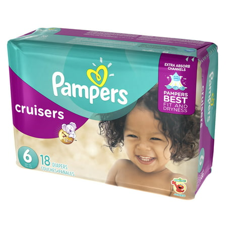 Pampers Cruisers Diapers Size 6 18 count