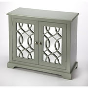 Butler Ellena Gray Mirrored 2 Door Accent Cabinet