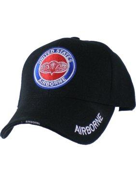 da1167223cc85 Product Image US Honor United States Airborne Wings Logo Round Emblem Mens  Cap  Black - Adjustable