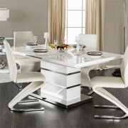 Furniture of America Verdell Contemporary Wood Dining Table in White