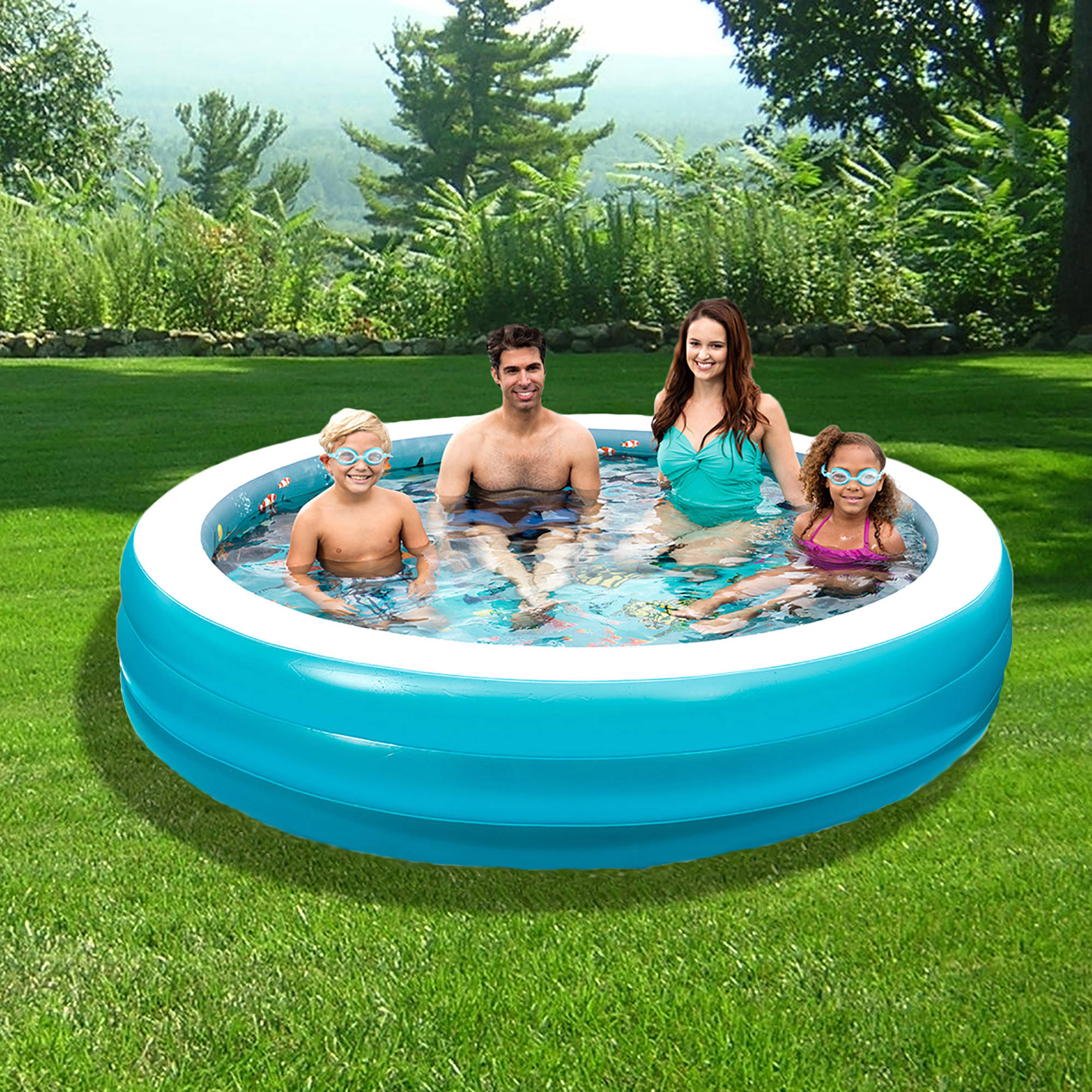 3D Inflatable 7.5' Round Family Pool