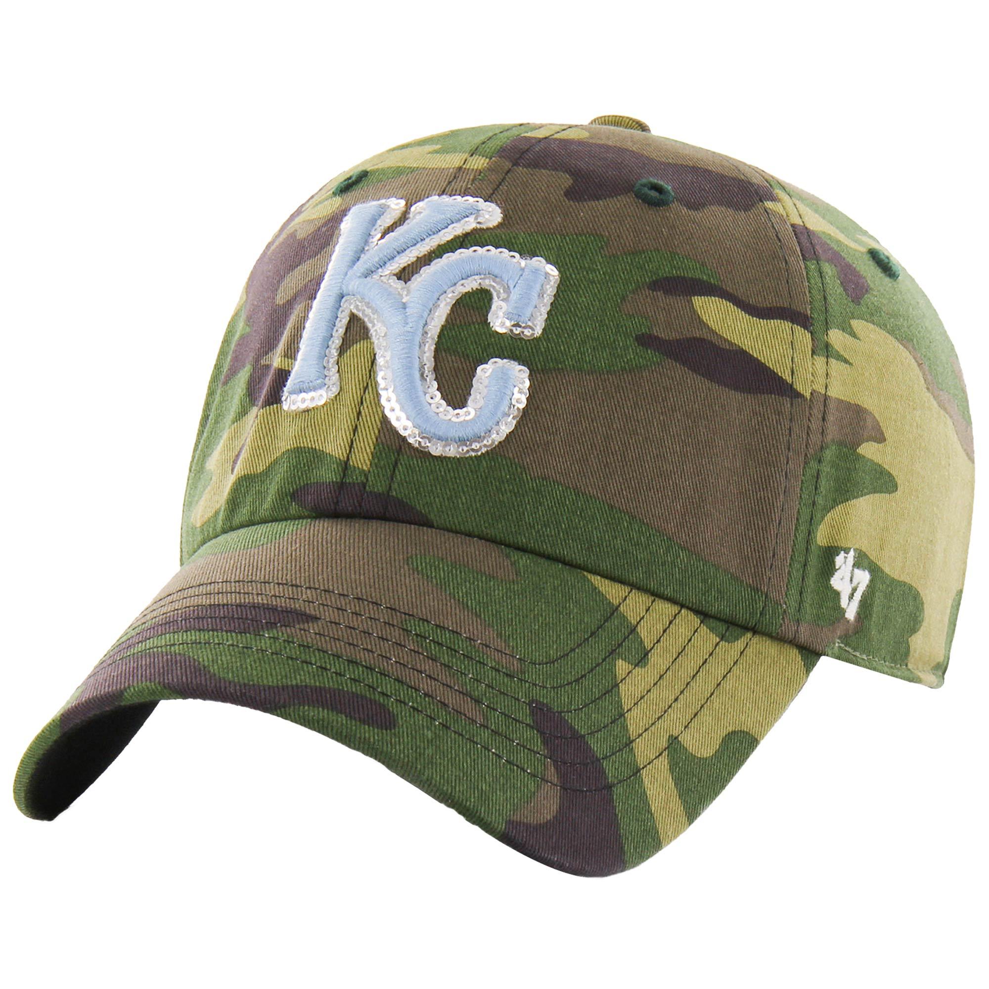 Kansas City Royals '47 Women's Rosita Clean Up Adjustable Hat - Camo - OSFA