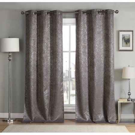 Maddie Metallic Specks Blackout Curtain Set