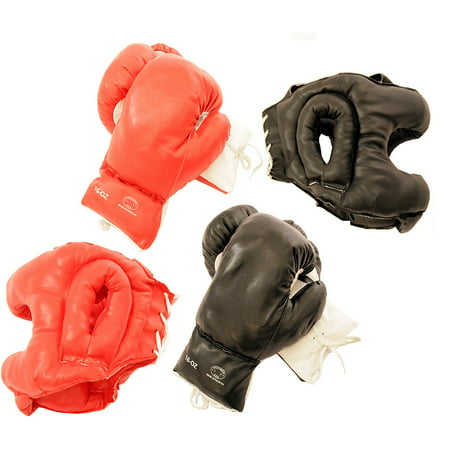 Last Punch Adult-sized Buffed-PVC Boxing Gloves and Head Gear (Set of Two) (Oversized Boxing Gloves For Sale)