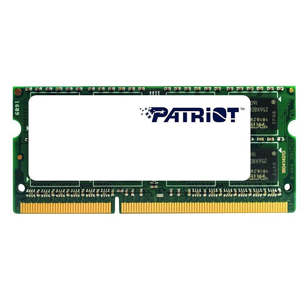 patriot 1.35v 8gb ddr3 1600mhz pc3-12800 cl11 sodimm memory psd38g1600l2s
