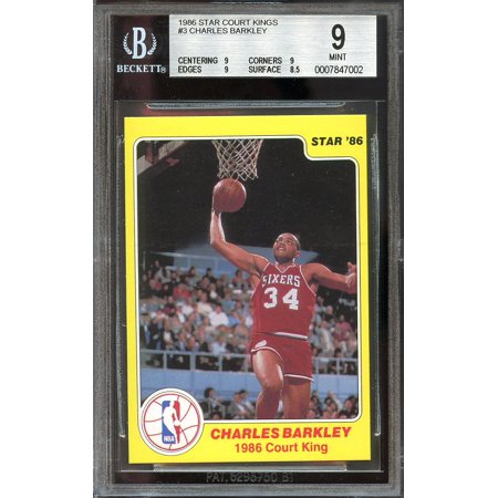 1986 Star Court Kings  3 Charles Barkley 76Ers Rookie Bgs 8 5  9 9 9 8 5