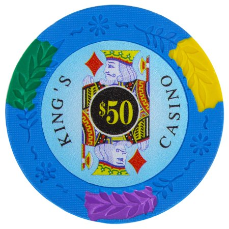 King's Casino Premium 14g Poker Chips, $50 Clay Composite, 25-pack ()