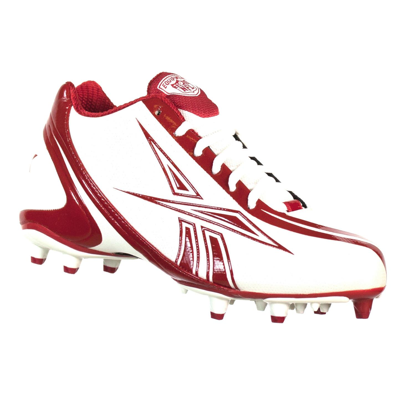 REEBOK NFL BURNER SPEED LOW M3 MENS FOOTBALL CLEATS WHITE RED 12