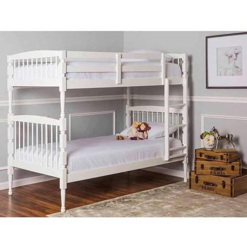 Dream On Me Julia 2 In 1 Twin Over Twin Bunk Bed White Walmart Com