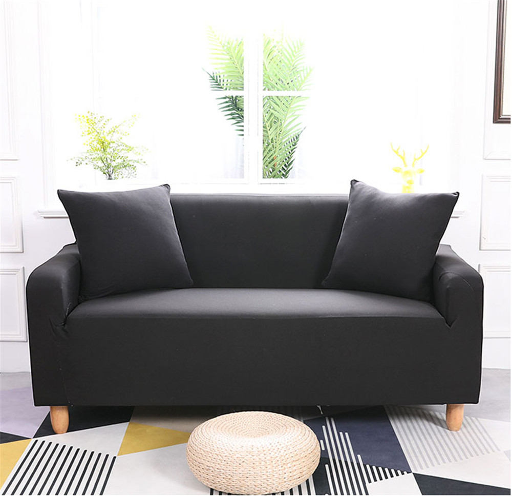 Knifun 2 Seater Polyester Loveseat  Sofa Couch Stretch Protect Cover Elastic Slipcover Home ,Sofa Cover