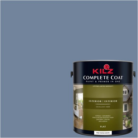 KILZ COMPLETE COAT Interior/Exterior Paint & Primer in One #RC140-01 North Beach Blue