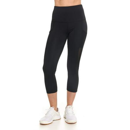 Mesh Slip Pocket (Women's Active High Rise 7/8 Leggings with Mesh and)