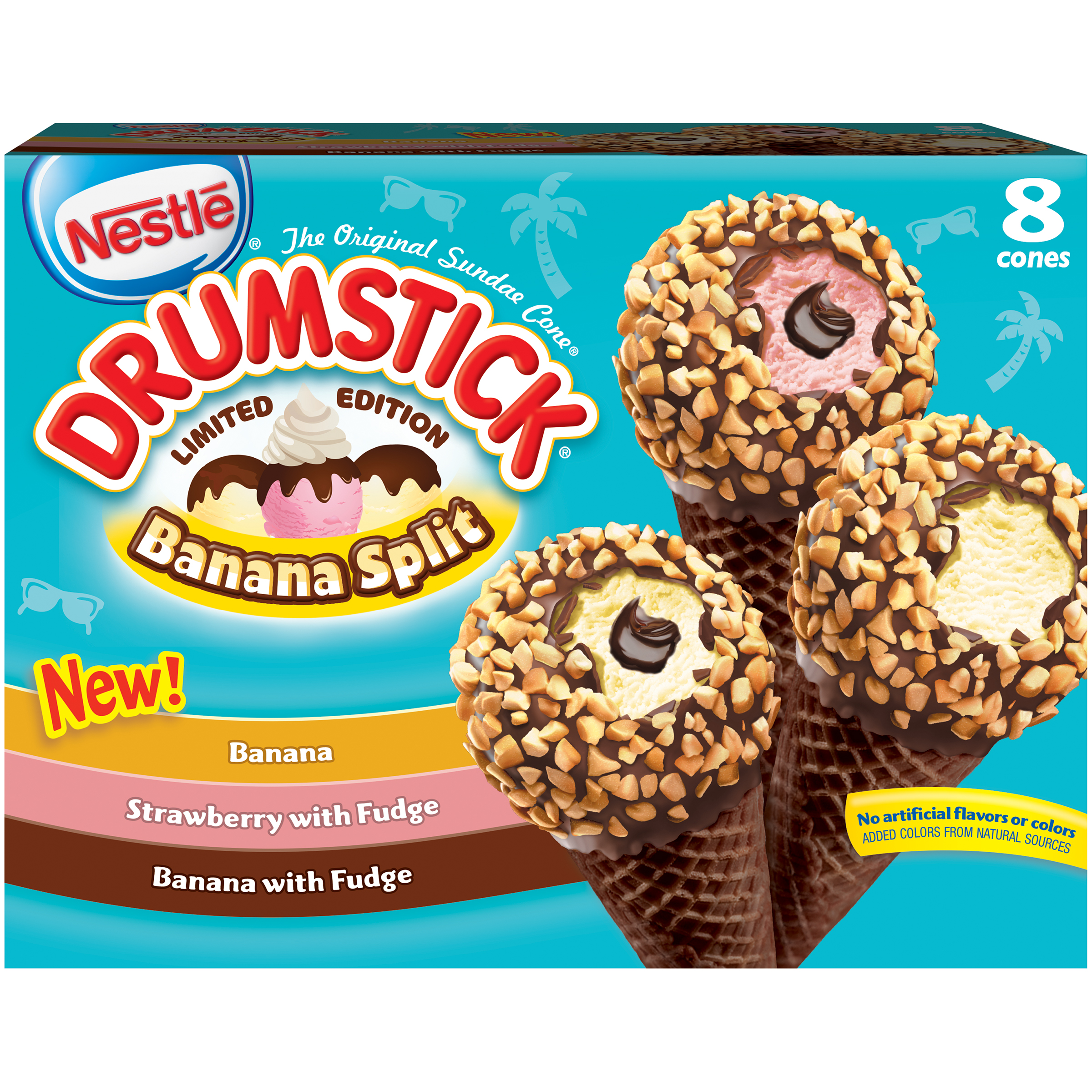 NESTLE DRUMSTICK Limited Edition Frozen Dairy Dessert Cones Variety Pack 8 ct Box