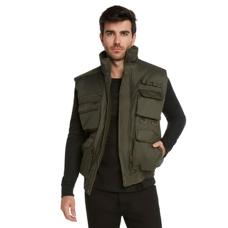 9 crowns men's fishing hunting tactical vest essentials-olive-xl thumbnail