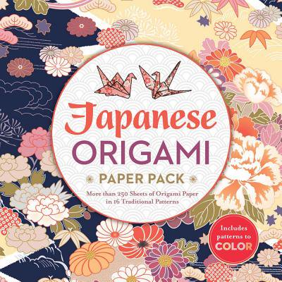 Make Origami Crane - Japanese Origami Paper Pack : More Than 250 Sheets of Origami Paper in 16 Traditional Patterns