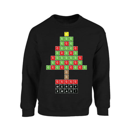 Nerdy Christmas Sweaters.Mezee Science Christmas Tree Sweatshirt Funny Christmas Sweaters For Chemistry Teacher Nerdy Ugly Christmas Sweater Periodic Table Xmas Ugly