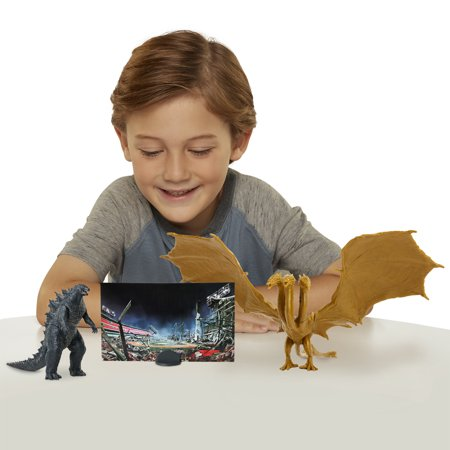 "Godzilla King of Monsters: Monster Match Up Action Figure set featuring 3.5"" King Ghidorah - Child"