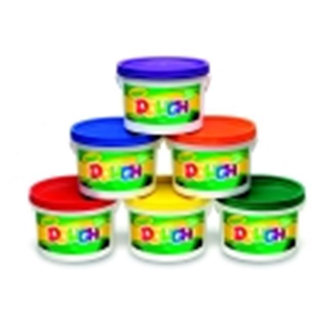 Crayola Non-Toxic Reusable Modeling Dough Classpack - 3 Lbs. Bucket, Pack 6