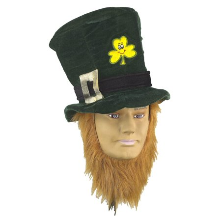 St Patricks Day Irish Costume Hat With - Irish Beards