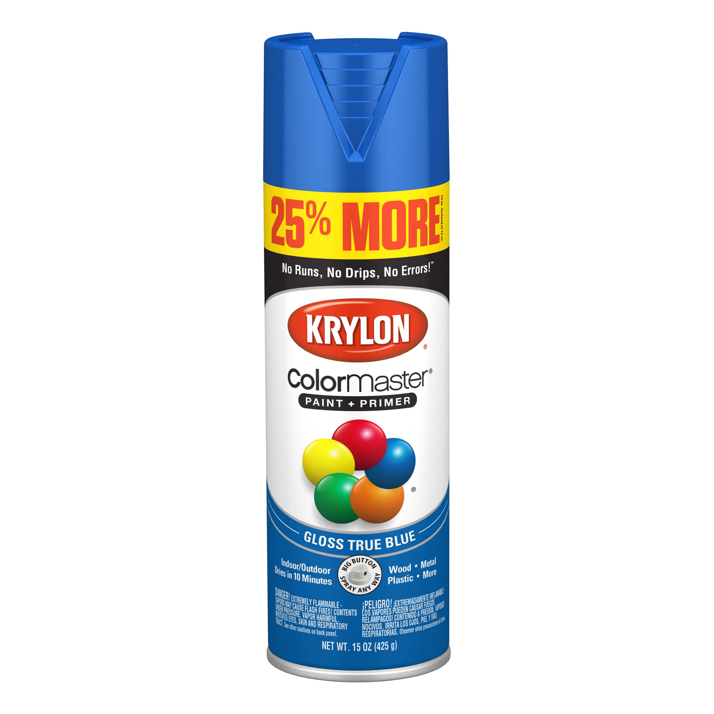 Krylon® ColorMaster Paint + Primer Gloss True Blue, 15-Oz