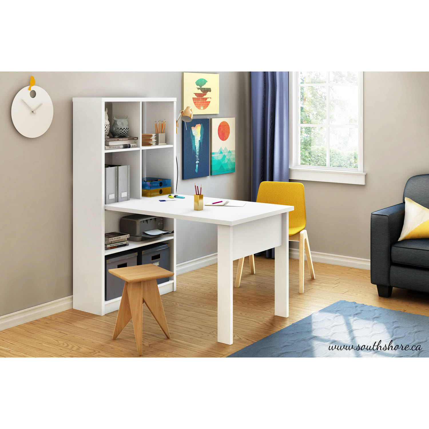 Perfect South Shore Annexe Craft Table And Storage Unit Combo, Multiple Finishes    Walmart.com